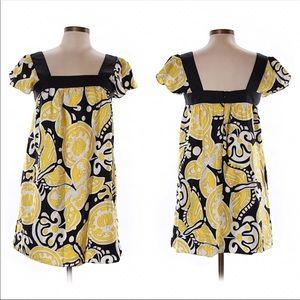 Milly silk retro vintage style mini dress